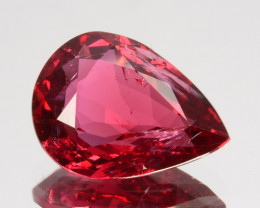 ~VIVID RED~ 2.29 Cts Natural Red Spinel Pear Cut Burmese
