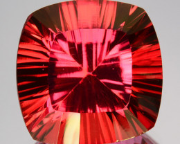 17.15 Cts Orange Pink Natural Topaz Cushion Concave Cut Brazil