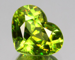 ~GLITTERING~ 1.42 Cts Natural Sphene Radium Green Heart Cut Russia