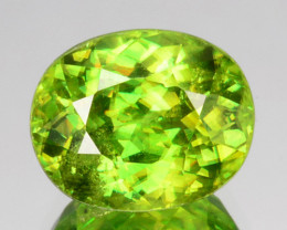 ~DAZZLING~ 2.83 Cts Natural Sphene Radium Green Oval Cut Russia