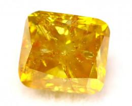 Fancy Yellow Diamond 0.48Ct Natural Untreated Fancy Diamond C2504