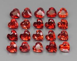 6.21 ct. Natural Hot Red Rhodolite Garnet Africa - 20 Pcs