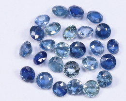 5.22tcw 3.3mm Natural Blue Ceylon Sapphire Parcel