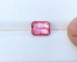 2.45 Ct Natural Reddish Pink Transparent Tourmaline Gemstone