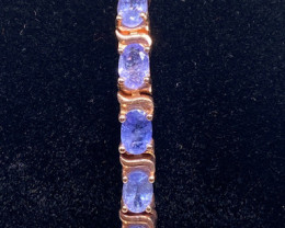 (13) Brilliant 14.22tcw. Tanzanite bracelet Unheated!