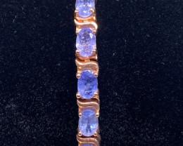 (13) Brilliant 14.22tcw. Tanzanite bracelet Unheated!