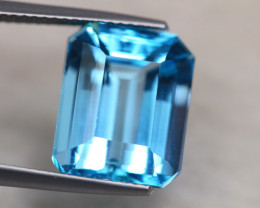 11.15Ct Natural Swiss Blue Topaz Octagon Cut Lot LZ5620