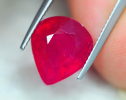 7.80ct Blood Red Color Ruby Pear Cut Lot GW5706
