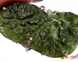 62-CTS BEAUTIFUL M SILVER MOLDAVITE SILVER  SG-