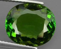 5.65 Cts Attractive Natural Green Tourmaline Gemstone Oval Dazzling!!