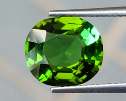 3.65 Cts Attractive Natural Green Tourmaline Gemstone Oval Dazzling!!