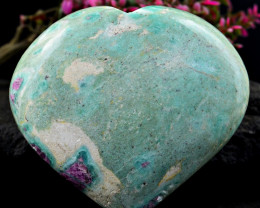 Genuine 930.00 Cts Ruby Zoisite Heart Shape Gem