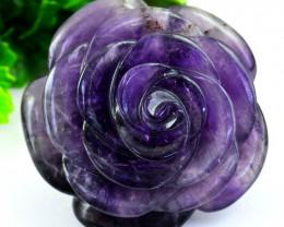 Genuine 1380.00 Cts Purple Amethyst Rose