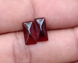 Fancy Cut Natural Garnet Pair Natural+Untreated VA986