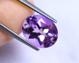 3.20cts Natural Purple Colour Amethyst / RD934