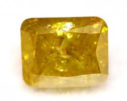 Yellow Diamond 0.40Ct Natural Untreated Fancy Color Diamond C2707