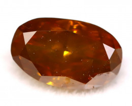 Cognac Diamond 0.41Ct Natural Untreated Fancy Color Diamond C2708
