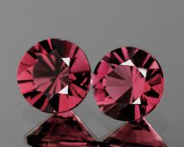 4.00 mm Round 2 pcs Purplish Pink Spinel {VVS]