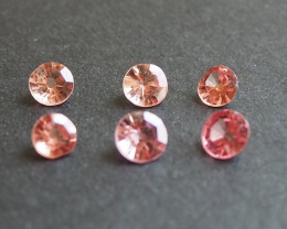 1.88ct different shades of pink spinels