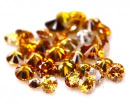 Diamond 0.88Ct 32Pcs Natural Fancy Cognac Round Cut Diamond A2703