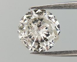 0.42 , Round Brilliant Cut diamond , White Natural Diamond, slightly broken