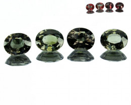 1.92 Cts Natural Color Change Garnet 4 Pcs Oval Cut Tanzania
