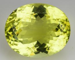 21.25 Ct Natural Lemon Quartz Top Class Fancy Cutting Gemstone. LQ 44
