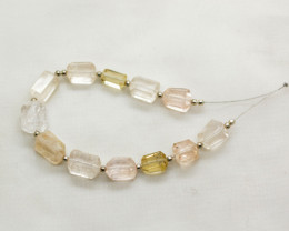 74 CT Beautiful Topaz Drill Faceted Beads@Pakistan