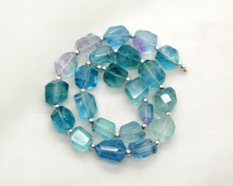 228 CT Beautiful Fluorite Drill Faceted Beads@Afghanistan
