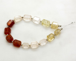 90 CT Beautiful Hessonite Garnet & Topaz Drilled Fecated Beads@Pakistan