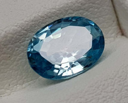 1.75Crt Natural Blue Zircon Natural Gemstones JI105