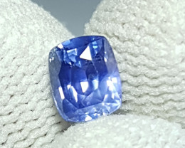 NO HEAT 1.19 CTS CERTIFIED NATURAL STUNNING CUSHION BLUE SAPPHIRE SRI LANKA
