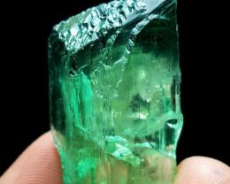 Amazing Damage free DT gemmy Hiddenite Crystal 68Cts H.H.S#2