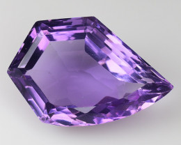 11.31 Ct Natural Amethyst Top Fancy Cutting Top Quality Gemstone. FAT 04