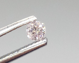 0.15ct Fancy Light Pink Diamond , 100% Natural Untreated