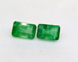 1.33cts Colombian  Emerald Pair , 100% Natural Gemstone