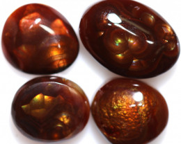 32.11 CTS FIRE AGATE POLISHED PARCEL FROM MEXICO [STSA1910]