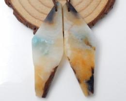 56cts Nugget Earrings ,Gemstone Earrings ,Natural Amazonite Earrings F523