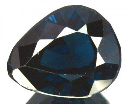 1.38 Cts Natural Deep Blue Spinel Pear Cut Sri Lanka