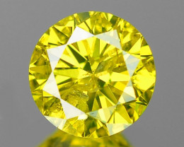 0.16 Cts Untreated Natural Fancy Yellow Color Loose Diamond