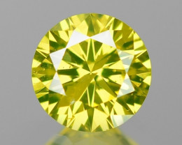 0.17  Cts Untreated Fancy Yellow Color Loose Diamond