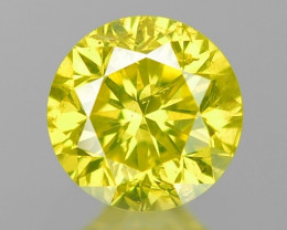 0.15 Cts Untreated Fancy yellow Color Loose Diamond