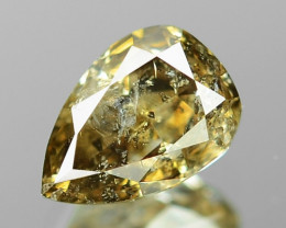 0.34 Cts Untreated Natural Fancy Yellowish Brown Color Loose Diamond