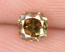 0.18 Cts Untreated Natural Fancy Yellowish Brown Color Loose Diamond