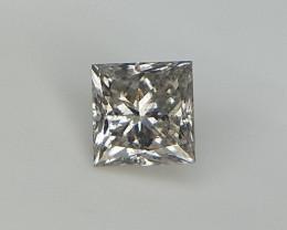 0.16 cts Princess Brilliant Cut Diamond , Grey Color Diamond