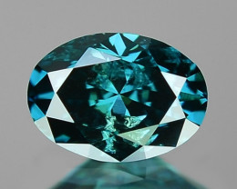 0.23 Cts Untreated Fancy Intense Blue Color Loose Diamond