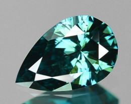 0.23 Cts Fancy Intense Greenish Blue Color Loose Diamond
