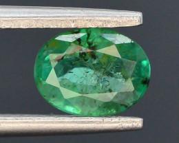 AAA Grade Top Color 0.95 ct Zambian Emerald