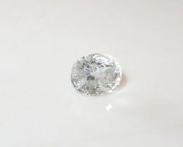 2.43ct Natural white sapphire