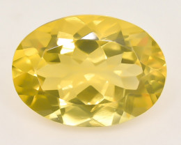 11.17 Crt Natural Citrine Faceted Gemstone.( AB 38)
